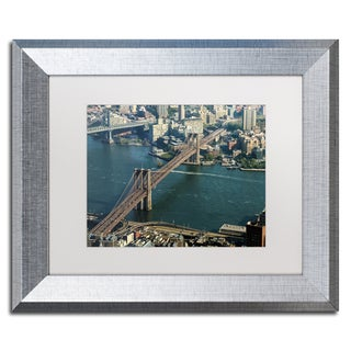 CATeyes 'Brooklyn Bridge' Matted Framed Art