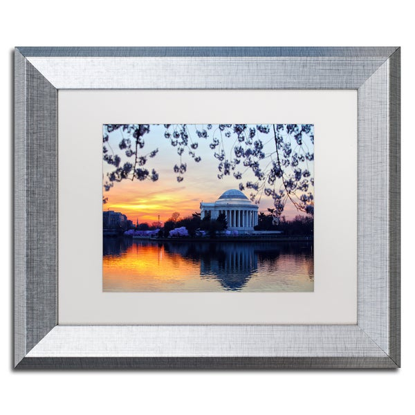 CATeyes 'Jefferson Memorial Sunrise' Matted Framed Art