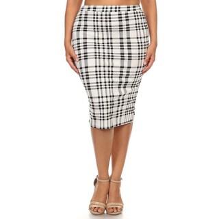 Women's Plus-size Plaid Pencil Skirt (3 options available)