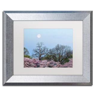 CATeyes 'Spring Moon 2' Matted Framed Art