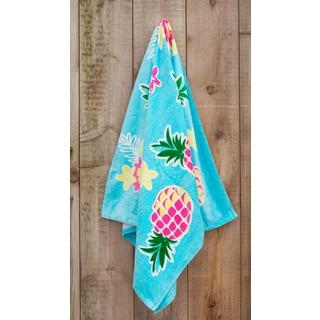 St.Tropez Sands Collection Blue Pineapple Beach Towel