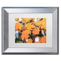 Jason Shaffer 'Orange Maple' Matted Framed Art