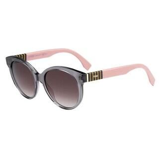 Fendi Square Women's Brown Frame Grey Lens Sunglasses