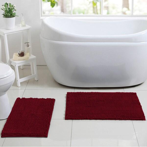 La-Monte Chenille 2-piece Bathroom Rug Set