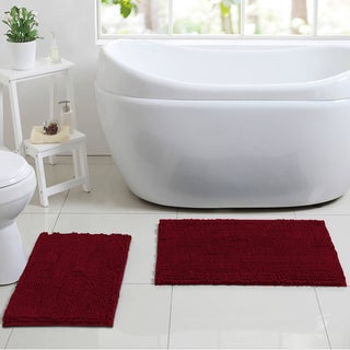 La-Monte Chenille 2-piece Bathroom Rug Set