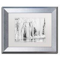Jason Shaffer 'Mill Hollow Winter' Matted Framed Art