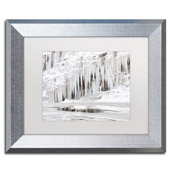 Jason Shaffer 'Mill Hollow Ice' Matted Framed Art