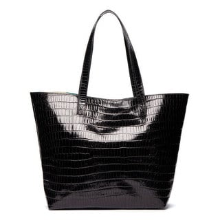 Viva Bags Croco Embossed Italian Leather Tote Bag