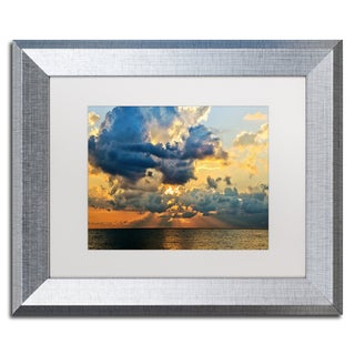 Jason Shaffer 'July Sunset' Matted Framed Art
