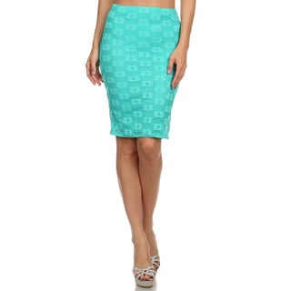 Women's Green Lace High-waist Pencil Skirt