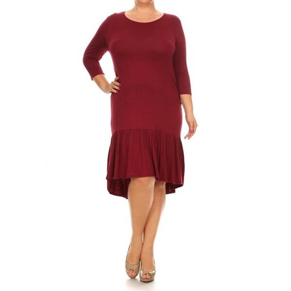 Shop Women s Plus Size Jersey Knit Dress - On Sale - Free Shipping ... 2ecd1f577