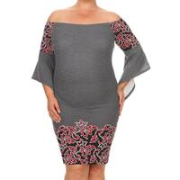 Women's Plus-size Abstract Pattern Bodycon Dress