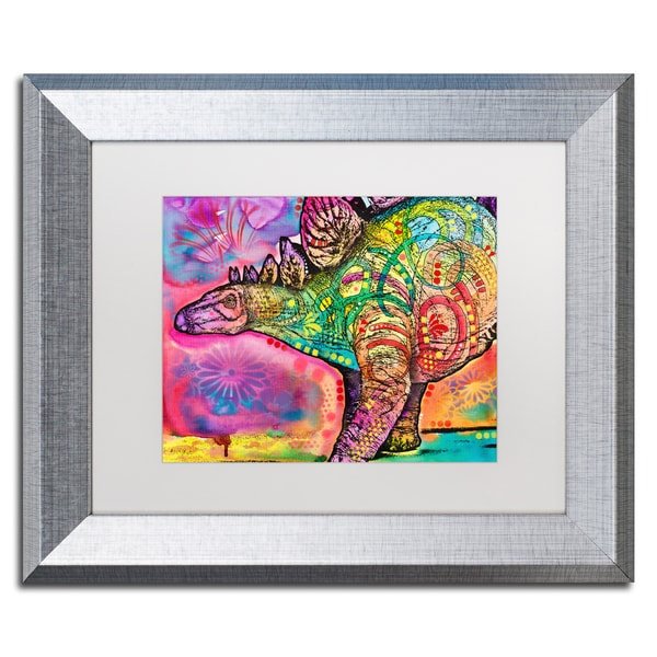 Dean Russo 'Stegosaurus' Matted Framed Art - Multi