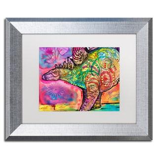 Dean Russo 'Stegosaurus' Matted Framed Art