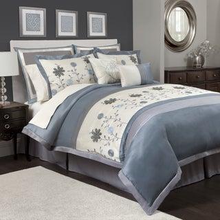 Lush Decor Monica Full-size 12-piece Blue Comforter Set