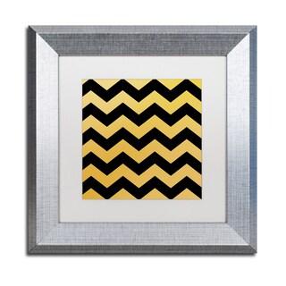 Color Bakery 'Xmas Chevron 5' Matted Framed Art