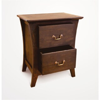 Handmade NES Camurry Solid Teak 24-inch Bedside Table / Nightstand