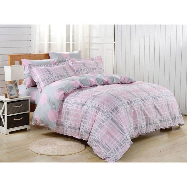 Dolce Mela Astypalaia Queen-Size Cotton Bedding Duvet Cover and Sheet Set
