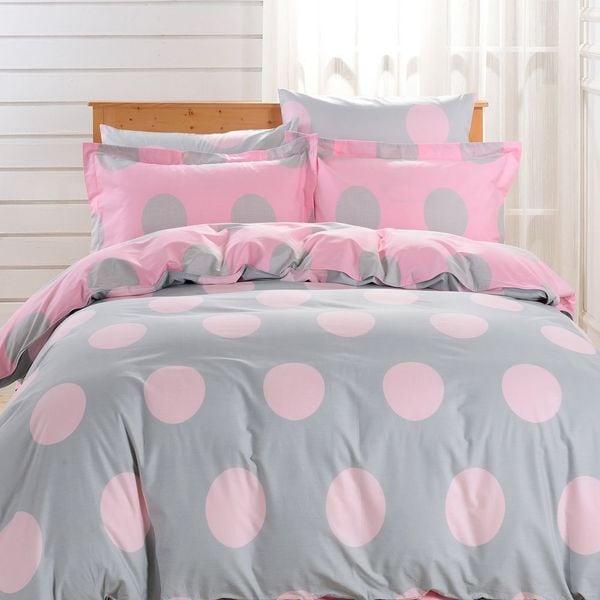 Dolce Mela Bari Queen-size Cotton Bedding Duvet Cover and Sheet Set