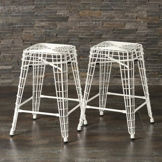 Filo 24-inch Metal Counter Stools (Set of 2)
