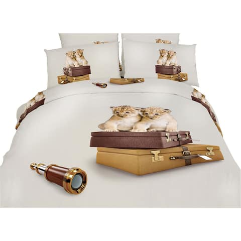 Dolce Mela Best Friends Cotton Bedding Duvet Cover and Sheet Set