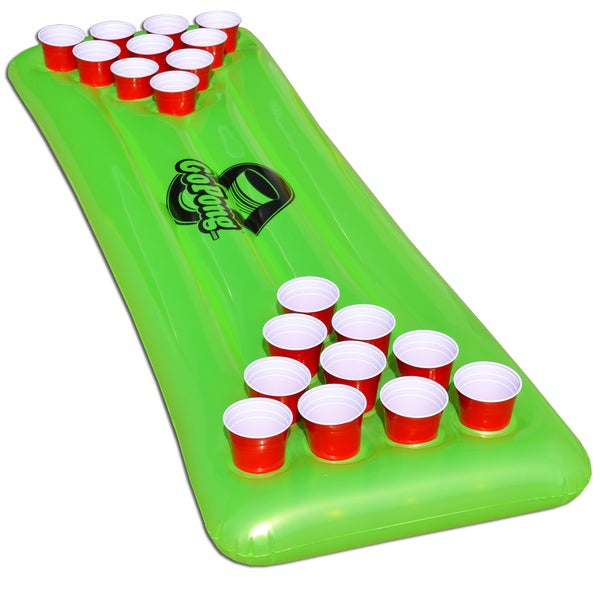 GoPong Pool Pong Table, Inflatable Floating Beer Pong Table and 3 Pong Balls