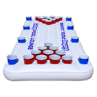 GoPong Pool Lounge Beer Pong Inflatable with Social Floating