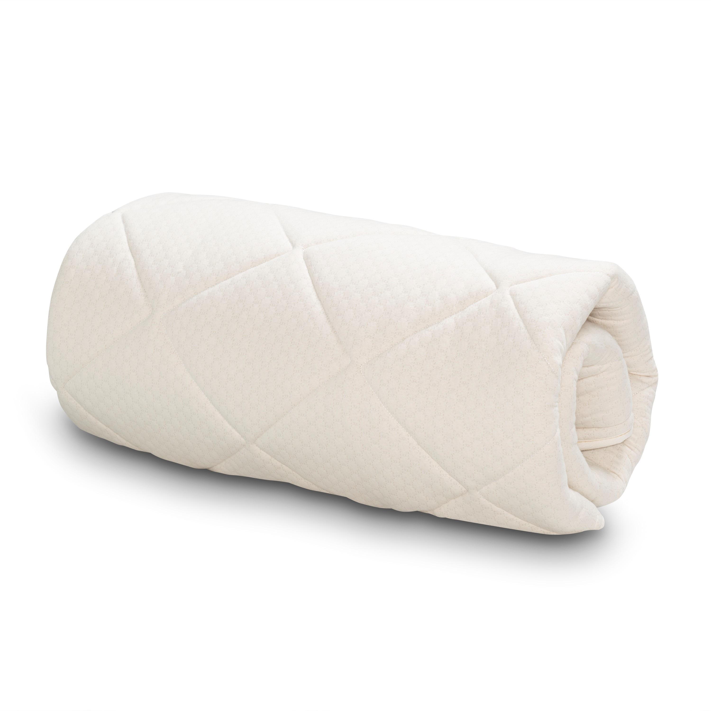 Serta Naturally Pure Wool Mattress Topper - White Full Si...