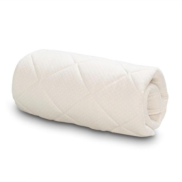 Serta Naturally Pure Wool Mattress Topper - White
