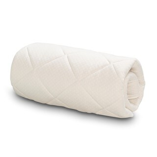Serta Naturally Pure Cotton Mattress Topper - White