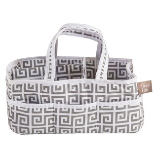 Trend Lab Greek Key Grey Cotton Storage Caddy