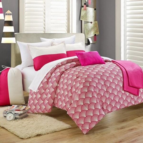 Chic Home Pino Fuchsia 9-piece Comforter Set