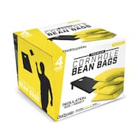 GoSports Yellow Premium Bean Bags (Set of 4)