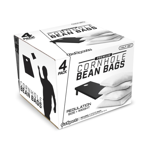 GoSports White Premium Bean Bags (Set of 4)