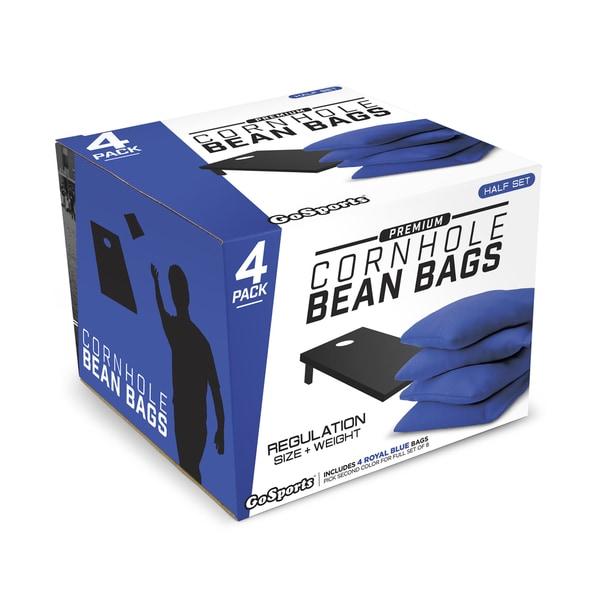 GoSports Blue Premium Bean Bags (Set of 4)