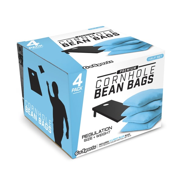 GoSports Light Blue Premium Bean Bags (Set of 4)