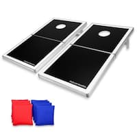 GoSports Black Cornhole PRO Regulation Size Bean Bag Toss Game Set