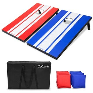 GoSports Classic Cornhole Set with 8 Bags, Carry Case, and Rules