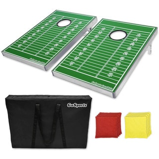 GoSports Football Edition Cornhole Bean Bag Toss Game Set