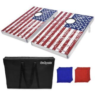 GoSports American Flag Cornhole Bean Bag Toss Game Set|https://ak1.ostkcdn.com/images/products/14822177/P21338983.jpg?impolicy=medium