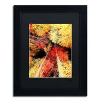 Philippe Sainte-Laudy 'Warming Up' Matted Framed Art - Red