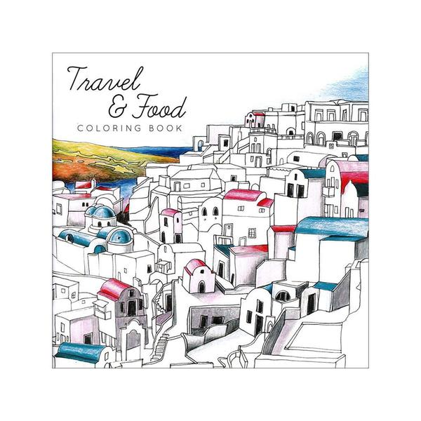 Creative Coloring Travel and Food Coloring Book