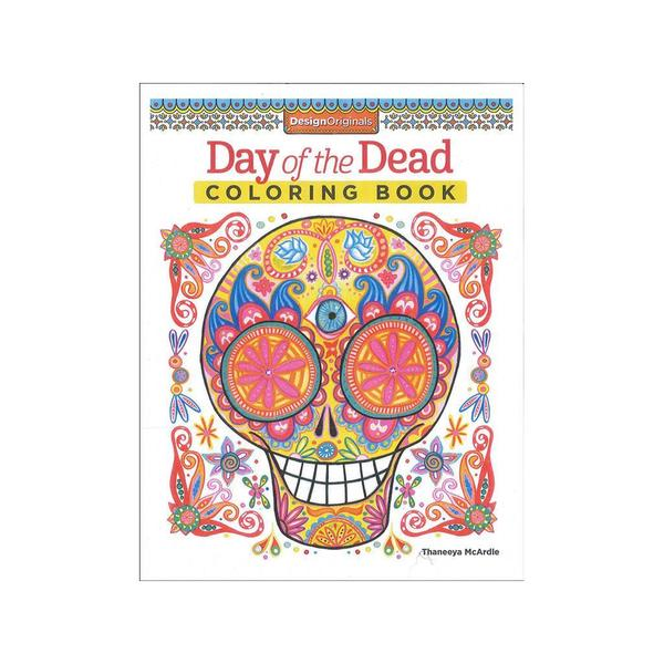 Shop Design Originals Day Of The Dead Coloring Book Free Shipping