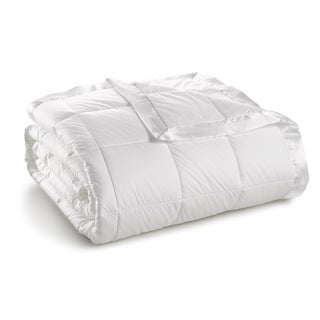 Sharper Image Cambric Cotton White Down Blanket