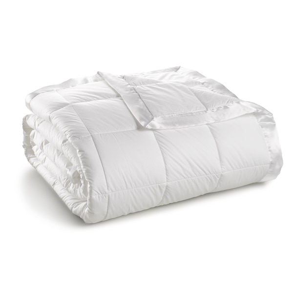 Shop Sharper Image Cambric Cotton White Down Blanket On