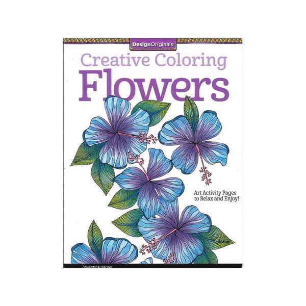 Design Originals Flowers Coloring Book