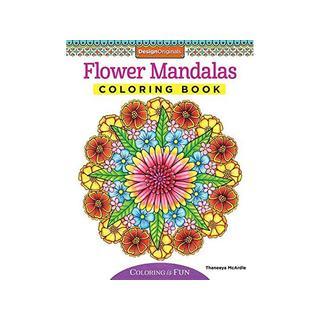 Design Originals Flower Mandalas Coloring Book