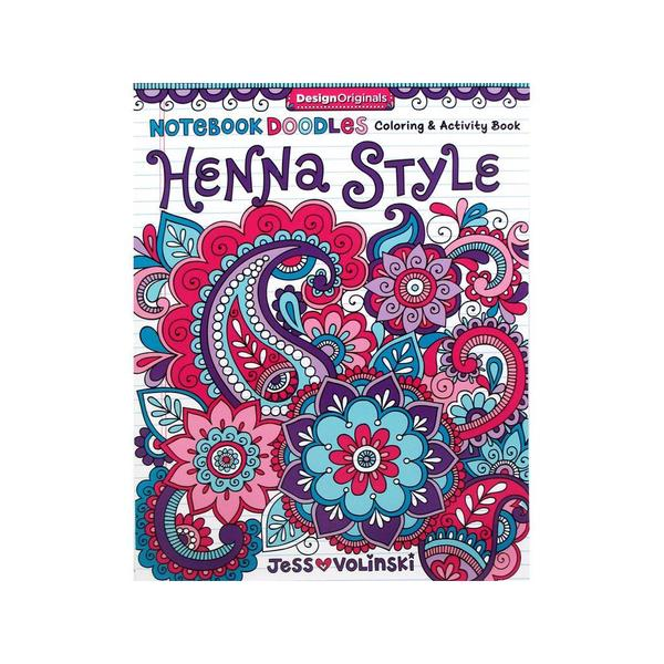 Design Originals ND Henna Style Coloring Book