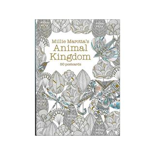 Lark Animal Kingdom Coloring Postcards 50-piece