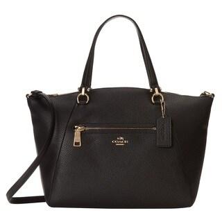 Coach Prairie Leather Light Gold/Black Satchel Handbag